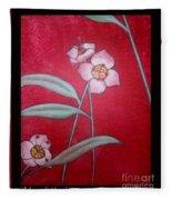 White Lotus Bottom  Fleece Blanket