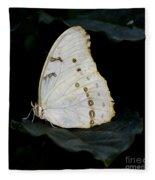 White Morpho Fleece Blanket