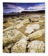 White Park Bay, County Antrim, Ireland Fleece Blanket