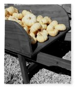 White Pumpkin Harvest Fleece Blanket
