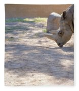 White Rhino And Ibex Fleece Blanket