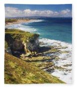 White Rocks, Portrush, Co Antrim Fleece Blanket