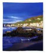 White Rocks Strand, County Antrim Fleece Blanket