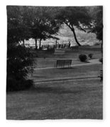 White Roe Lake Hotel - Livingston Manor Ny - Lawn To Lake Fleece Blanket