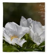 White Roses - Purge Me With Hyssop Fleece Blanket