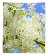 White Shower Tree Fleece Blanket