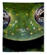 White Spotted Glass Frog Fleece Blanket