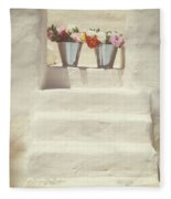 White Steps Fleece Blanket