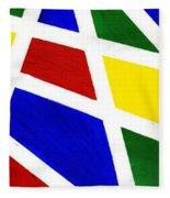 White Stripes 2 Fleece Blanket