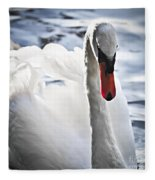 White Swan Fleece Blanket