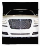 White  Three  Hundred  Limited  In  Black  Fleece Blanket