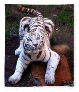 White Tiger 2 Fleece Blanket