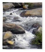 White Water Composition Fleece Blanket
