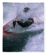 White Water Kayaker Fleece Blanket