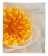 White Water Lilly Fleece Blanket