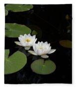 White Water-lily 4 Fleece Blanket