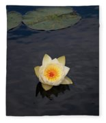 White Water-lily Fleece Blanket