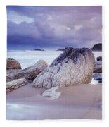 Whitepark Bay, Co Antrim, Ireland Rocks Fleece Blanket