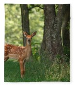 Whitetail Deer Fawn Fleece Blanket