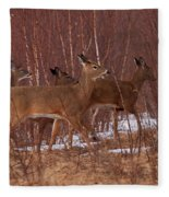 Whitetails On The Move Fleece Blanket