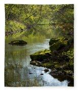 Whitewater River Spring 11 Fleece Blanket