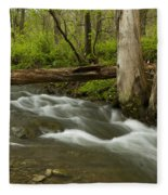 Whitewater River Spring 18 Fleece Blanket