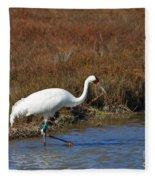 Whooping Crane Fleece Blanket