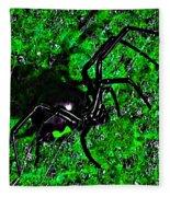 Wicked Widow - Green Fleece Blanket