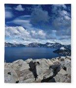 Wide View Of Crater Lake Fleece Blanket