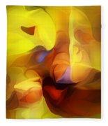 Wild About Saffron Fleece Blanket