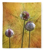 Wild Allium Ala Grunge Fleece Blanket