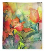 Wild Flowers 05 Fleece Blanket