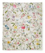 Wild Flowers Design For Silk Material Fleece Blanket