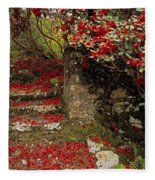 Wild Garden, Rowallane Garden, Co Down Fleece Blanket