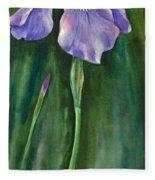 Wild Iris I Fleece Blanket