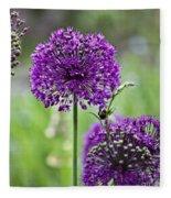 Wild Onion Flower Fleece Blanket
