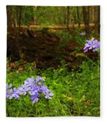 Wild Phlox In The Woodlands Fleece Blanket