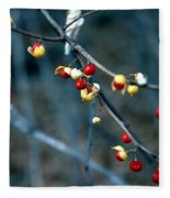 Wild Red Berries Out Of The Shell Fleece Blanket