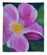 Wild Rose Study 6 Fleece Blanket