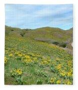 Wild Sunflowers 2 Fleece Blanket