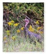 Wild Turkey - Gobbler - Thanksgiving Fleece Blanket