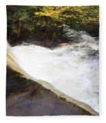 Wilderness Waterfall Autumn Stream Fleece Blanket