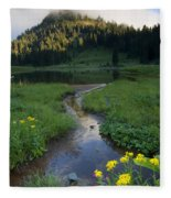 Wildflower Stream Fleece Blanket