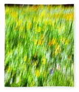Wildflowers And Wind Fleece Blanket