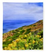 Wildflowers At Point Loma Fleece Blanket