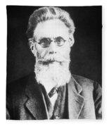 Wilhelm Roentgen, German Physicist Fleece Blanket