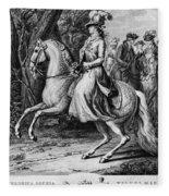 Wilhelmina Of Prussia Fleece Blanket