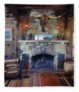 Will Rogers Home Fleece Blanket