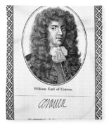 William Craven (1608-1697) Fleece Blanket