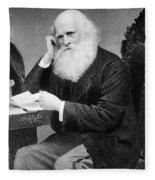 William Cullen Bryant, American Poet Fleece Blanket